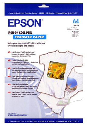 Epson Iron On Cool Peel Transfer Paper A4 (10)
